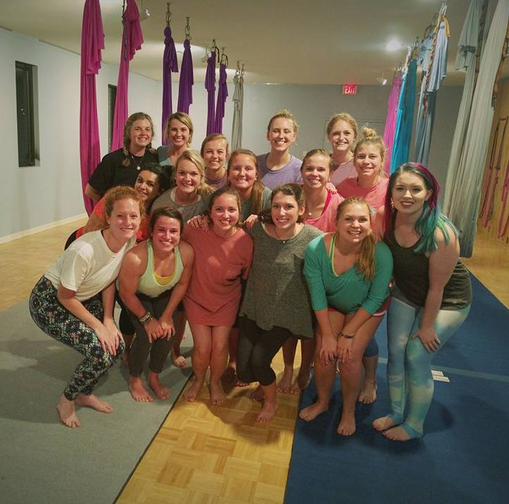 Group Portrait of Aerial Hoop Practitioners